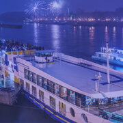 outdoor event on a large boat